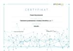 Certyfikat Szkolenie podstawowe z modułu Workflow, cz. 1 enova365 Paweł Hryniewiecki 2019