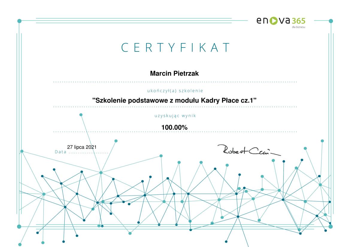 enova365_Certyfikat_podstawowy_Kadry_Płace